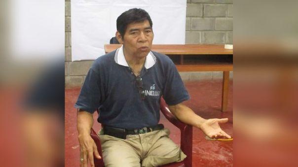 El líder awajún Santiago Manuin Valera