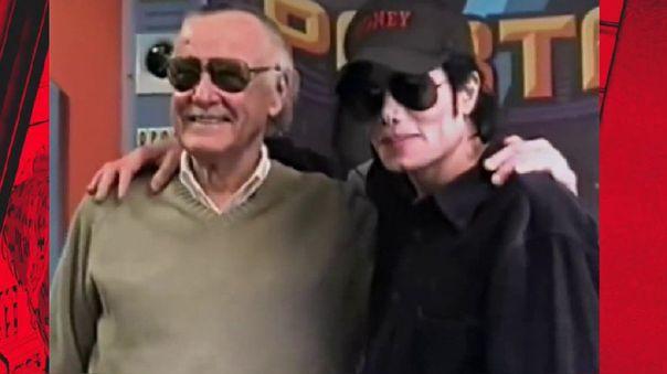 Michael Jackson y Stan Lee en los estudios de Marvel.