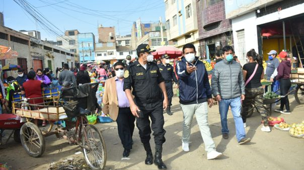 Autoridades preparan operativo de retiro de ambulantes en mercado Moshoqueque