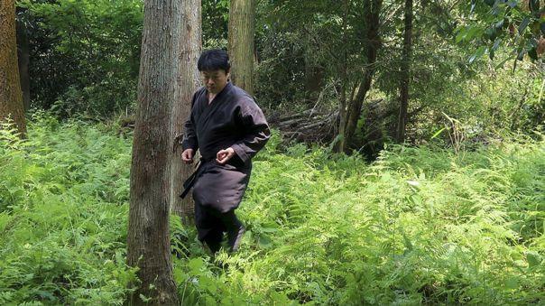 Genichi Mitsuhashi en su entrenamiento ninja.