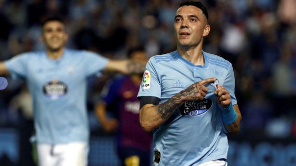 Iago Aspas le anotó otra vez a Barcelona