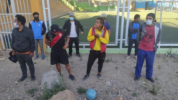 Detenidos se reunían en el conocido Campo de Marte de Paucarpata