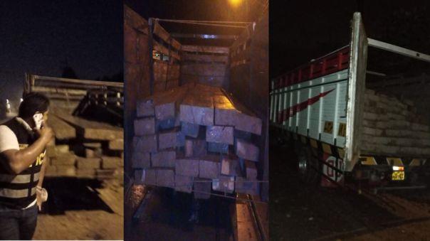 Detenidos con importante cargamento de madera