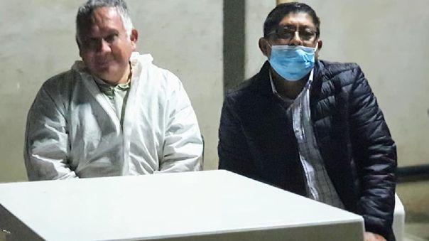 Alcalde Armando Huamán Tasayco (casaca nega) sigue realizando sus actividades, pese a tener COVID-19