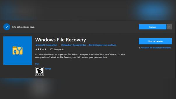 Windows File Recovery te permitirá recuperar archivos eliminados de cualquier dispositivo.