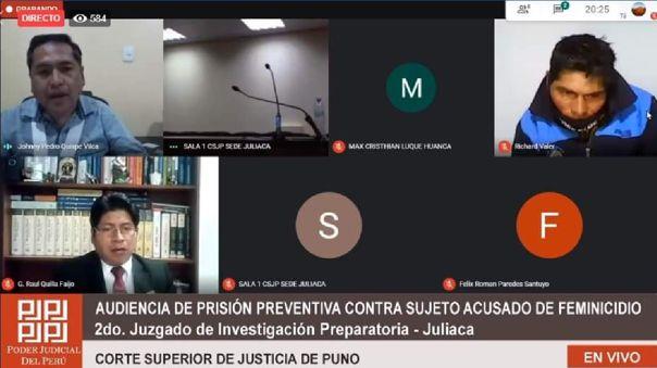 En audiencia virtual se dictó prisión preventiva para hombre por el delito de feminicidio