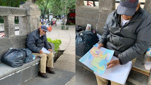 Anciano en la calle