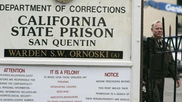 Frontis de la prisión de San Quentin, la más antigua de Calfirnia, en el 2005.