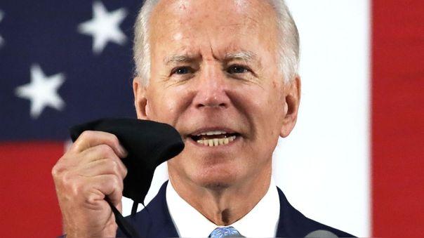 Joe Biden durante su anuncio