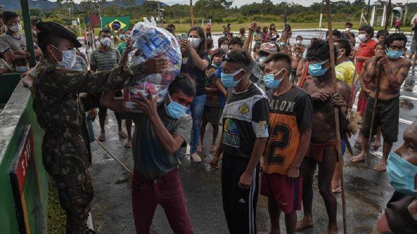 La misión militar visitó tres comunidades del estado de Roraima, cerca de la frontera con Venezuela. Entregó equipos de protección y medicinas.