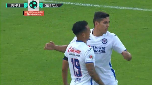 Yoshimar Yotun reapareció en Cruz Azul