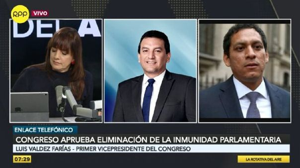 Luis Valdéz Farías estuvo en RPP Noticias explicando las modificaciones de la Constitución durante la sesión del Pleno.