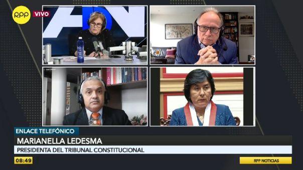 La presidenta del TC criticó el poco debate que se tuvo en el Pleno en cuanto a las modificaciones en la Constitución.