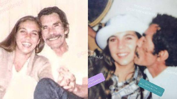 Carmen Valdés, hija de Ramón Valdés, compartió inédita foto.