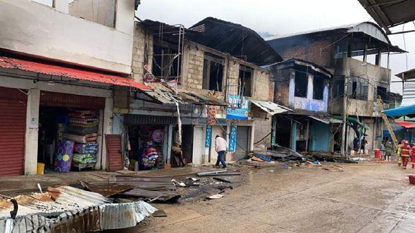 Incendio deja cuantiosos daños materiale en distrito de Laberinto.