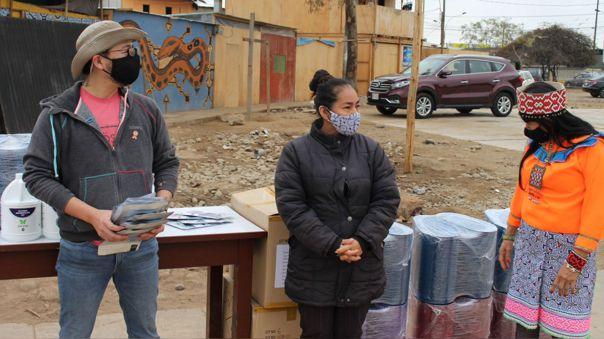 Morikawa donó 400 mascarillas a la comunidad Shipiba de Cantagallo en el Rímac.