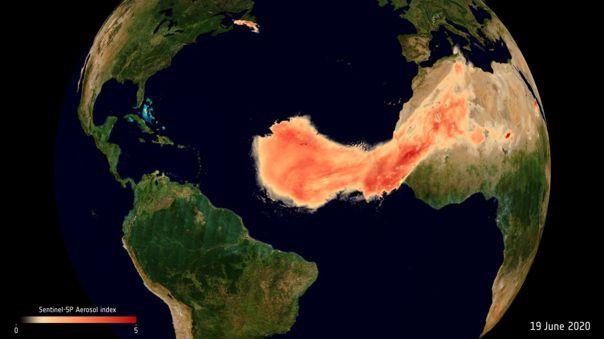 Los satélites de la ESA siguen a 'Godzilla', la