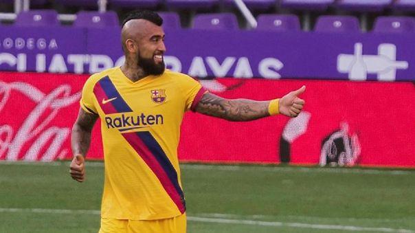 Arturo Vidal marcó el primer gol del Barcelona ante Valladolid
