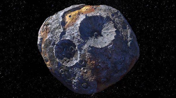 Representación artística del asteroide Psyche.