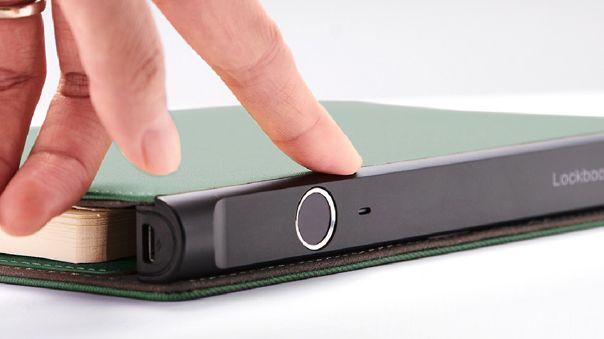 Este es el sensor de huellas del Lockbook Pro de Xiaomi