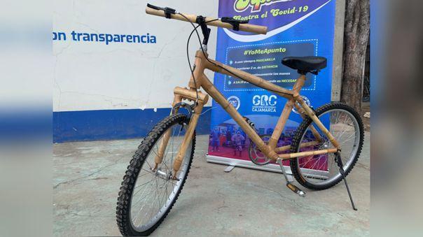 Bicicleta a base de bambú resiste hasta 108 kilos de peso.