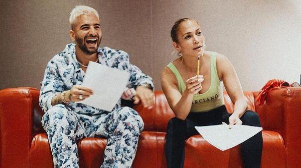 Jennifer López y Maluma se están reuniendo estos días en Miami para hacer música nueva juntos