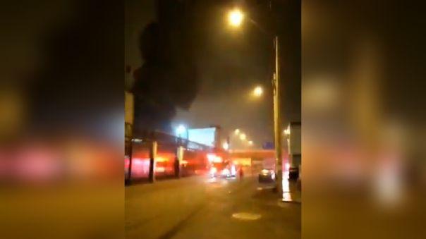 Incendio en La Victoria