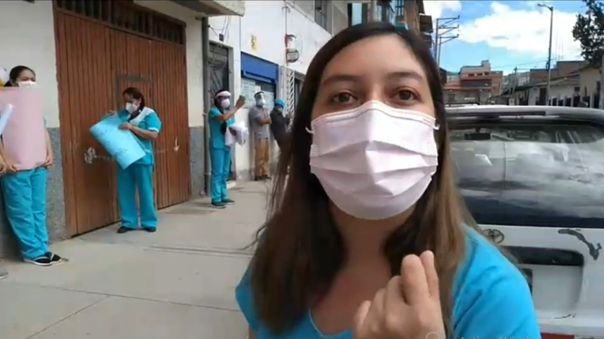 Enfermeras de hospital Simón Bolívar de Cajamarca alzaron su voz de protesta.