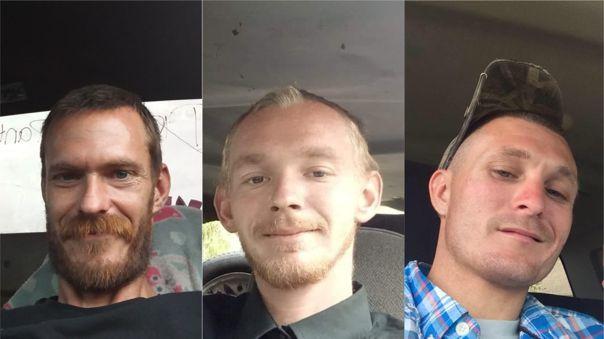 Los tres hombres fueron asesinados cuando iban en camino hacia el lago para su día de pesca.