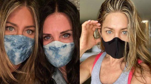 La impactante foto de Jennifer Aniston para concienciar sobre el uso de la mascarilla