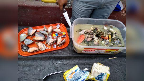 Droga había sido escondida en sudado de pescado y mariscos.