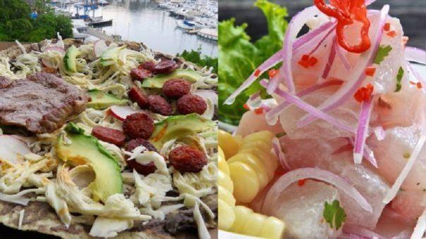 Tlayuda mexicana versus Ceviche peruano