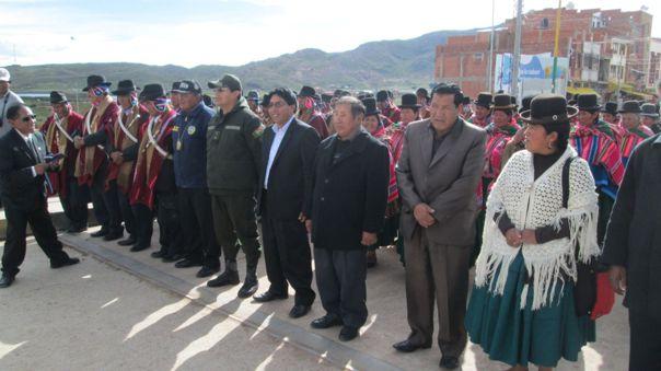 Imagen del 2018,  cuando las autoridades de Bolivia participaron de un acto cívico en el Perú.