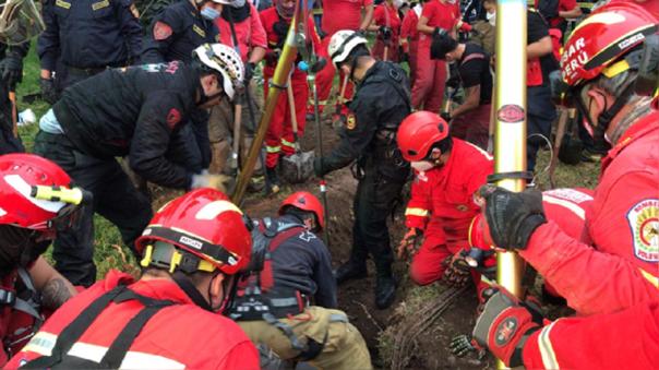 El niño de dos años cayó a un pozo de 50 metros de profundidad.