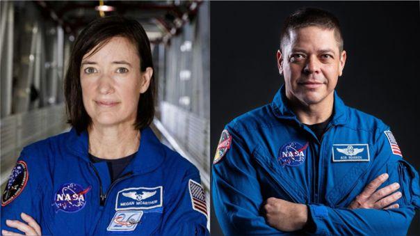Megan McArthur y Bob Behnken