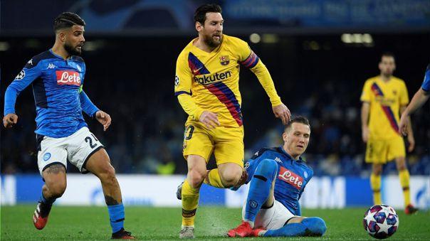 Barcelona y Nápoli son rivales en octavos de final de la Champions League