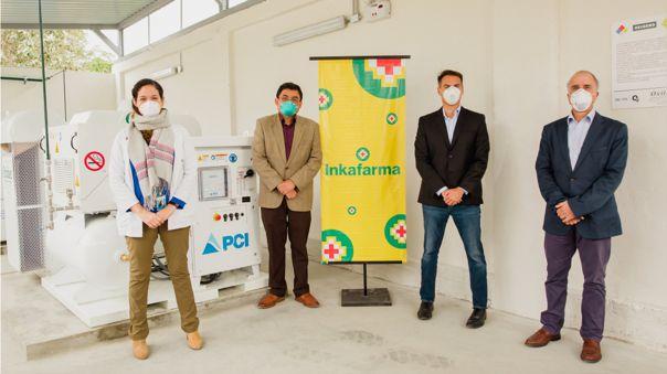 El Hospital Cayetano Heredia ya cuenta con dos plantas de oxígeno gracias a Inkafarma