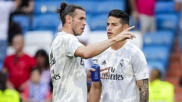 Gareth Bale y James Rodríguez no están en los planes de Zidane