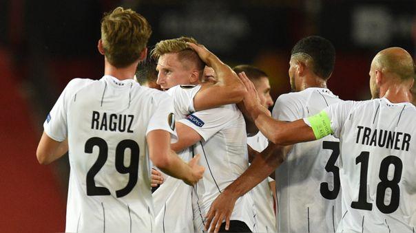 Romero voló por las puras: el golazo del LASK al Manchester United en la Europa League