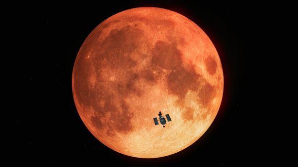 El Telescopio Hubble observa un eclipse total de Luna (impresión