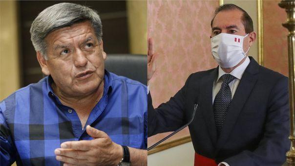 Acuña Peralta felicitó la designación de Walter Martos como presidente del nuevo gabinete ministerial.