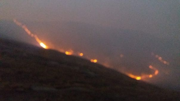 Incendio Forestal en Cusco