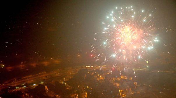 A través de redes sociales, muchas personas mostraron su malestar por el ruido de los fuegos artificiales a medianoche.