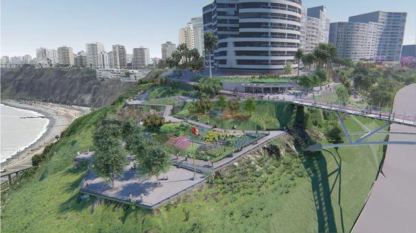 Municipalidad de Miraflores impulsa proyecto sobre el acantilado.