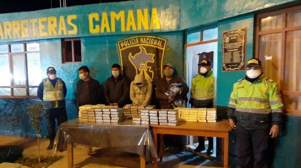 Droga decomisada por la policía tenía como destino el vecino País de Bolivia.