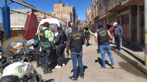 Policía intervino a personas que iban a participar de campeonato de fulbito.