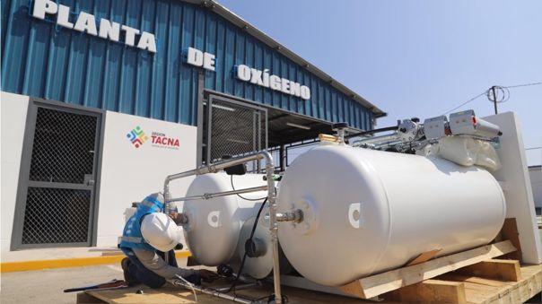Segunda planta de oxígeno llega a Tacna para atender demanda de pacientes con la COVID-19.