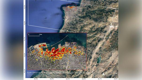 Explosión en Beirut, capital de Líbano