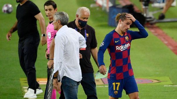 Antoine Griezmann fue titular en el partido de Champions ante Nápoli