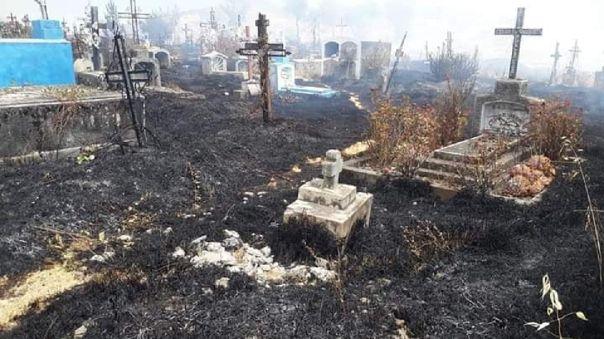 Cementerio incendiado